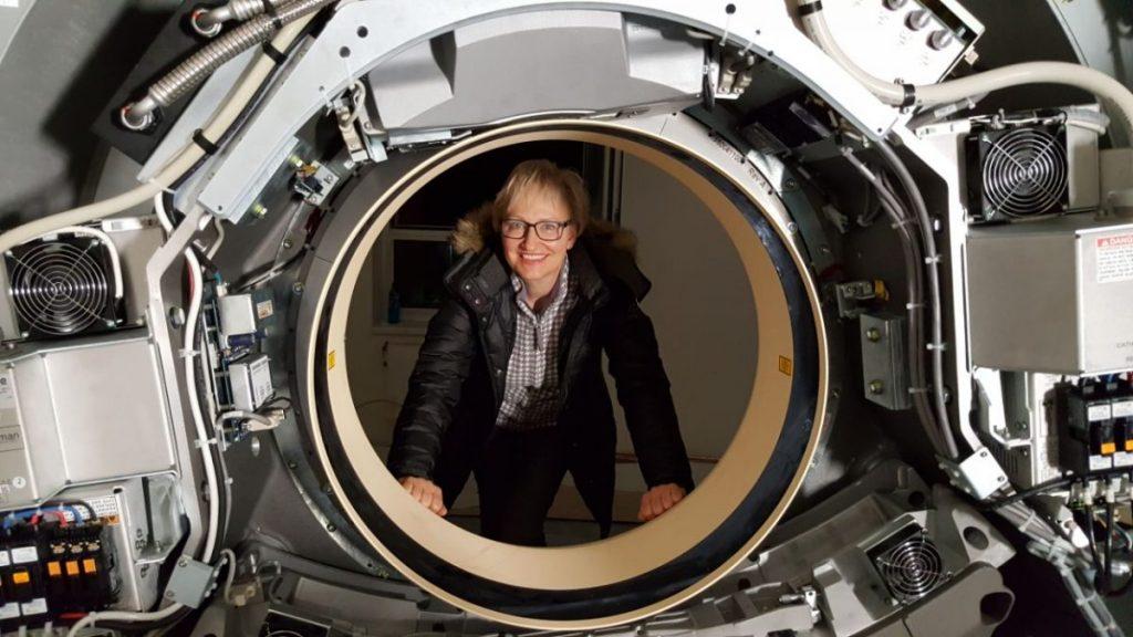 Silvia Schiffer im offenen CT