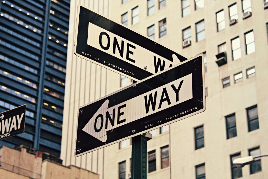 Beruf Laufbahn Job Karriere One Way